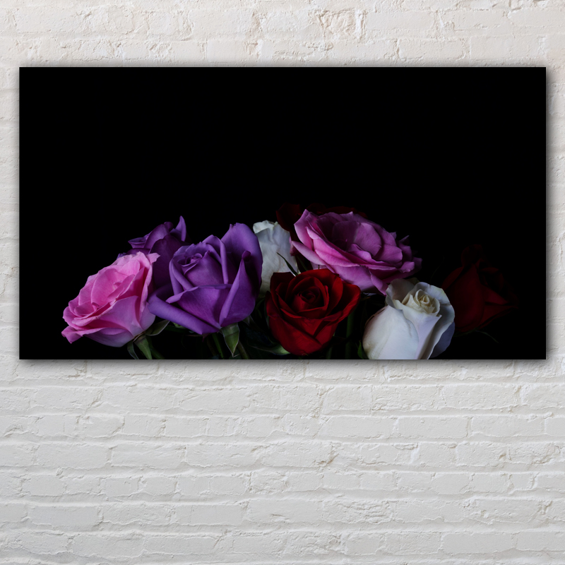Image of Roses on Black Background